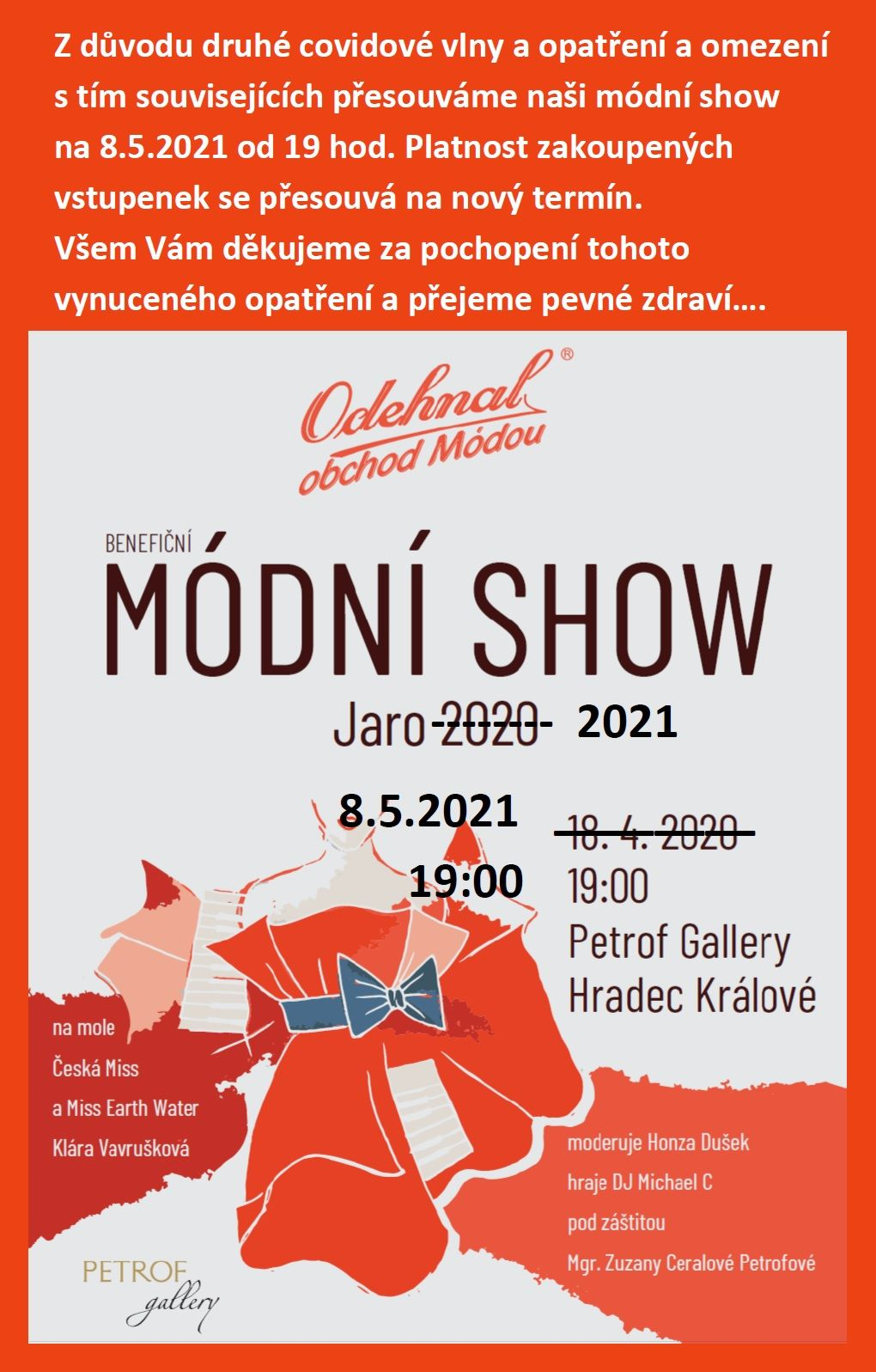 Módní show jaro-léto 2021
